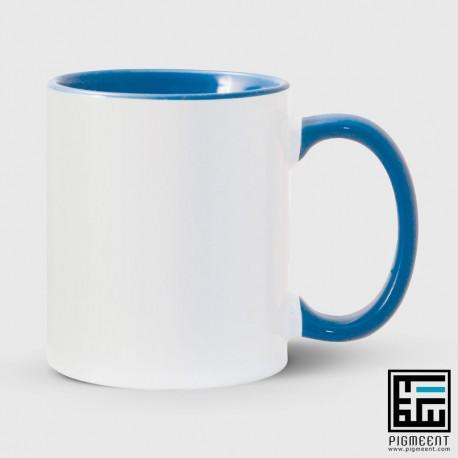 چاپ لیوان دسته و داخل آبی